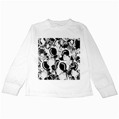 Black and white garden Kids Long Sleeve T-Shirts