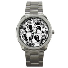 Black and white garden Sport Metal Watch
