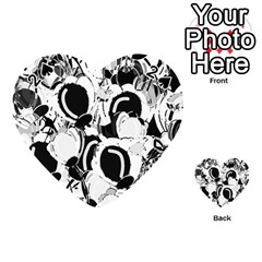 Black and white garden Playing Cards 54 (Heart)