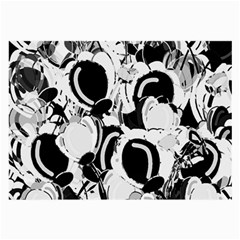 Black and white garden Large Glasses Cloth (2-Side)