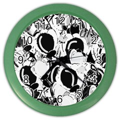 Black and white garden Color Wall Clocks