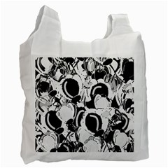 Black and white garden Recycle Bag (One Side)