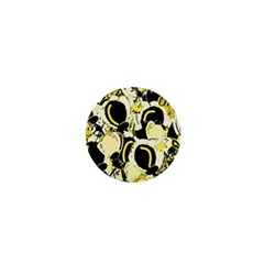 Yellow abstract garden 1  Mini Magnets