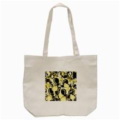 Yellow abstract garden Tote Bag (Cream)