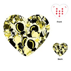 Yellow abstract garden Playing Cards (Heart)