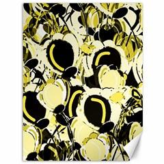 Yellow Abstract Garden Canvas 36  X 48
