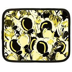 Yellow abstract garden Netbook Case (Large)