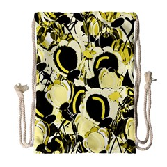 Yellow abstract garden Drawstring Bag (Large)