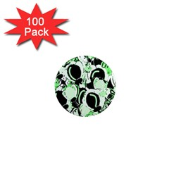 Green abstract garden 1  Mini Magnets (100 pack)