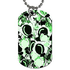 Green abstract garden Dog Tag (Two Sides)