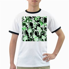 Green abstract garden Ringer T-Shirts