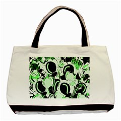 Green abstract garden Basic Tote Bag (Two Sides)