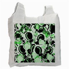 Green abstract garden Recycle Bag (One Side)