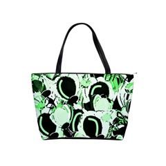 Green abstract garden Shoulder Handbags
