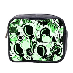 Green abstract garden Mini Toiletries Bag 2-Side
