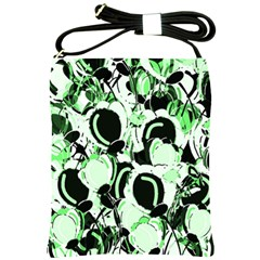 Green abstract garden Shoulder Sling Bags