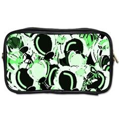 Green Abstract Garden Toiletries Bags 2 Side