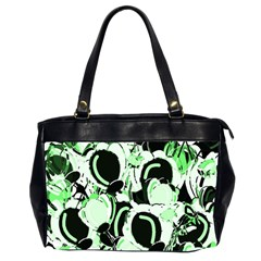 Green abstract garden Office Handbags (2 Sides)