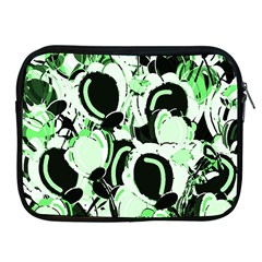 Green Abstract Garden Apple Ipad 2/3/4 Zipper Cases