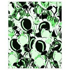 Green abstract garden Drawstring Bag (Small)