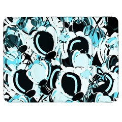 Blue Abstract  Garden Samsung Galaxy Tab 7  P1000 Flip Case