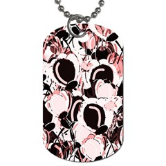 Pink Abstract Garden Dog Tag (two Sides)