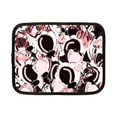 Pink abstract garden Netbook Case (Small)