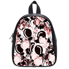 Pink abstract garden School Bags (Small)