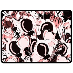 Pink abstract garden Fleece Blanket (Large)