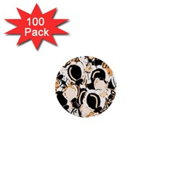 Orange abstract garden 1  Mini Buttons (100 pack)