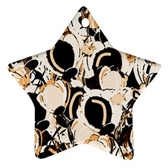Orange abstract garden Star Ornament (Two Sides)