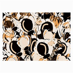 Orange abstract garden Large Glasses Cloth (2-Side)