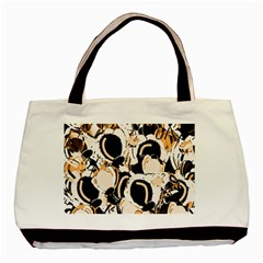 Orange abstract garden Basic Tote Bag (Two Sides)