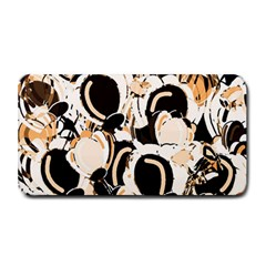 Orange abstract garden Medium Bar Mats