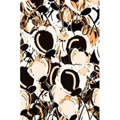 Orange abstract garden 5.5  x 8.5  Notebooks