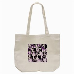 Purple abstract garden Tote Bag (Cream)