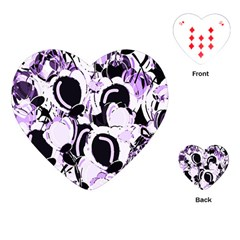 Purple abstract garden Playing Cards (Heart)