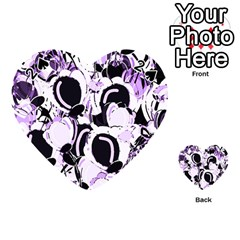 Purple abstract garden Playing Cards 54 (Heart)