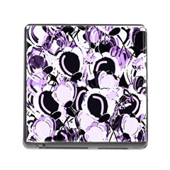 Purple abstract garden Memory Card Reader (Square)