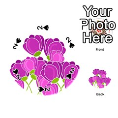 Purple flowers Playing Cards 54 (Round)