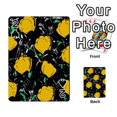 Yellow roses 2 Playing Cards 54 Designs
