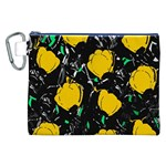 Yellow roses 2 Canvas Cosmetic Bag (XXL) Front