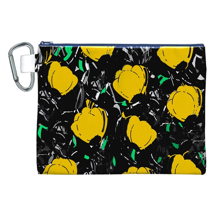 Yellow roses 2 Canvas Cosmetic Bag (XXL)
