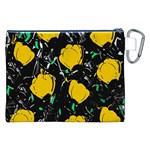 Yellow roses 2 Canvas Cosmetic Bag (XXL) Back