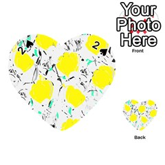 Yellow roses 2 Playing Cards 54 (Heart)