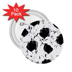 Black Roses 2 25  Buttons (10 Pack)