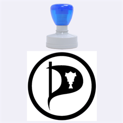 Pirate Party Of Iceland Logo Rubber Round Stamps (large)