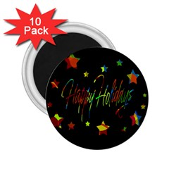 Happy holidays 2.25  Magnets (10 pack)