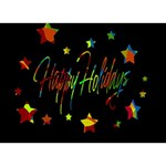Happy holidays Circle Bottom 3D Greeting Card (7x5) Front