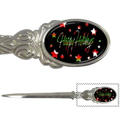 Happy Holidays 2  Letter Openers